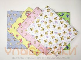 ММ Трикотажные пеленки 100х120 (футер, дев+мал)
