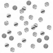 Конфетти круги серебро, фольга, 10 мм, 500 гр