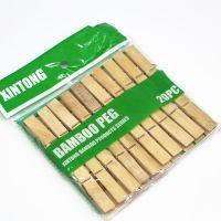 Набор бамбуковых бельевых прищепок Xintong 6 см, 20 шт (1)