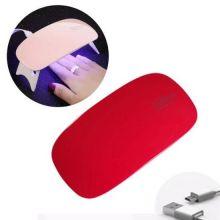 Гибридная мини-лампа для полимеризации гель-лака UV LED Sun Mini, Цвет: Красный