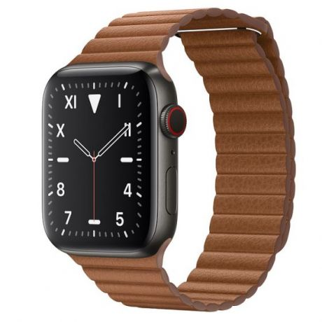 Apple Watch Edition Series 5  Space Black Titanium Case 44mm GPS + Cellular Saddle/Brown with Leather Loop