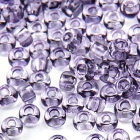 Бисер чешский 01121 серо-фиолетовый прозрачный кристальный Preciosa 1 сорт