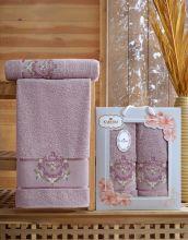Комплект из 2-х махровых полотенец  Flowers 50*90+70*140 Арт.554.02