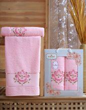 Комплект из 2-х махровых полотенец  Flowers 50*90+70*140 Арт.554.08