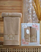 Комплект из 2-х махровых полотенец  Flowers 50*90+70*140 Арт.554.09