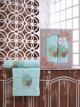Комплект из 2-х махровых полотенец  Flowers 50*90+70*140 Арт.555.03
