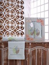 Комплект из 2-х махровых полотенец  Flowers 50*90+70*140 Арт.555.04
