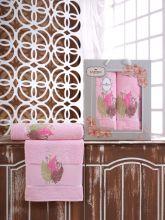 Комплект из 2-х махровых полотенец  Flowers 50*90+70*140 Арт.555.08