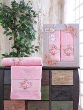 Комплект из 2-х махровых полотенец  Flowers 50*90+70*140 Арт.556.08