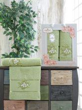 Комплект из 2-х махровых полотенец  Flowers 50*90+70*140 Арт.556.10