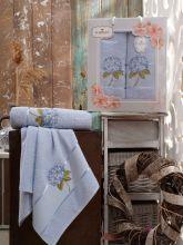 Комплект из 2-х махровых полотенец  Flowers 50*90+70*140 Арт.557.07