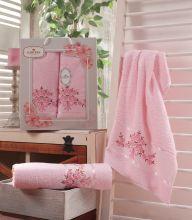 Комплект из 2-х махровых полотенец  Flowers 50*90+70*140 Арт.559.08