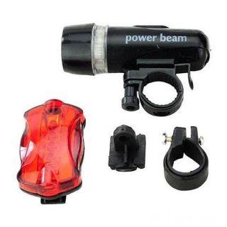 Комплект велосипедных фонарей WJ-101, Цвет фонаря: Черный