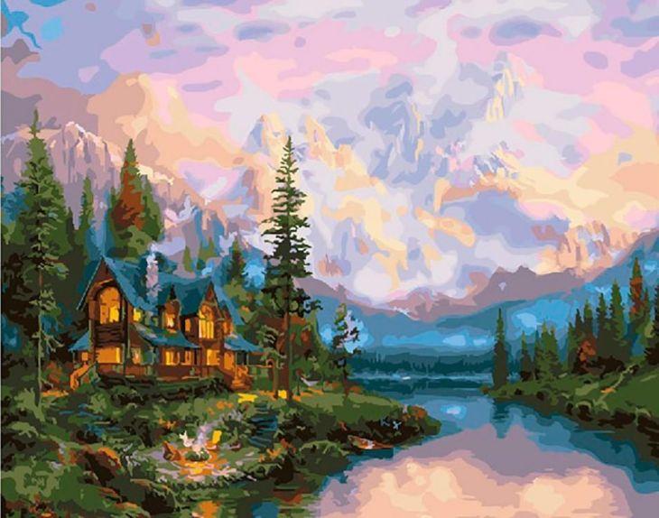 Картина по номерам В сосновом бору 40х50см Paintboy Original