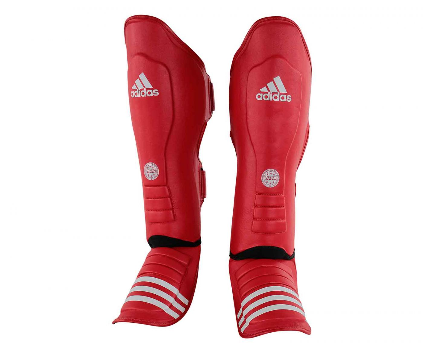 Защита голеностопа Adidas WAKO Super Pro Shin Instep Guards красная, размер XL, артикул adiWAKOGSS11