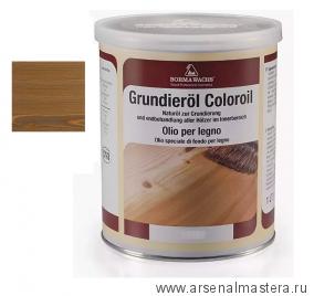 Масляное покрытие для полов и  паркета Borma Grundierol 1л цв.5 рустикальный дуб  R3910-5