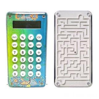 Карманный 8-разрядный калькулятор Лабиринт, Цвет: Бирюзовый