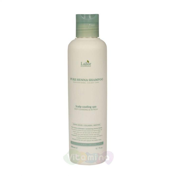 La'dor Профессиональный укрепляющий шампунь с хной Pure Henna Shampoo, 200 мл