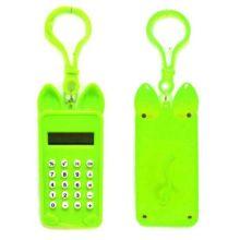 Брелок 8-разрядный калькулятор Мышка, Цвет: Зелёный