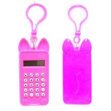 Брелок 8-разрядный калькулятор Мышка, Цвет: Розовый