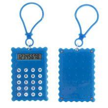 Брелок 8-разрядный калькулятор Печенька, Цвет: Синий