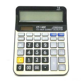 Настольный 14-разрядный калькулятор с двойным питанием CT-140C