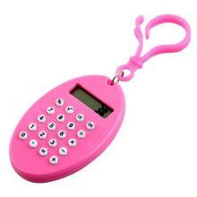 Брелок 8-разрядный калькулятор Овал, Цвет: Розовый