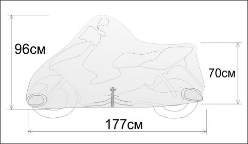 Чехол для скутера Rexwear: S (скутер 50см3)
