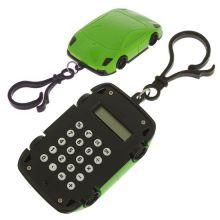 Брелок 8-разрядный калькулятор Машинка, Цвет: Зелёный