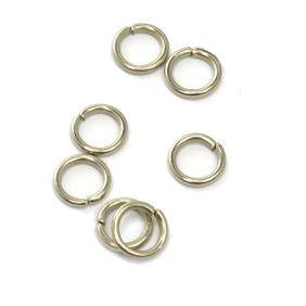 Колечки соединительные, одинарные, светлое серебро, 50 шт/упак.