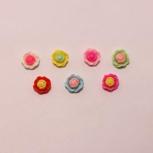 """Кабошон """"Цветок"""", пластик, 20 мм (1уп = 50шт), Арт. КБП0414"""