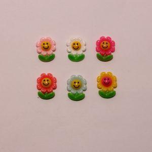 """`Кабошон """"Цветок"""", пластик, 23х18 мм, Арт. Р-КБП0386"""