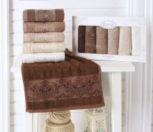 "Комплект кухонных полотенец  бамбук ""KARNA"" PANDORA 30*50 - 6 шт. Арт.2200-3"