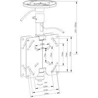 Потолочный кронштейн Kromax COBRA-2