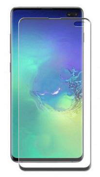 Защитное стекло противоударное PALMEXX для Samsung Galaxy S10 Plus 5D полный экран черное