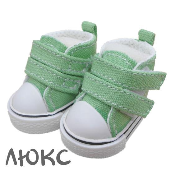 Обувь для кукол ЛЮКС - кеды 5 см (зеленые)