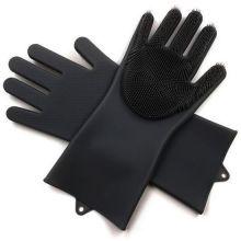 Многофункциональные силиконовые перчатки Magic Brush, Чёрный