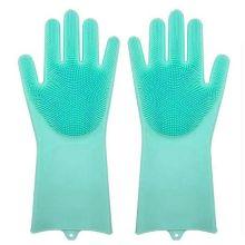 Многофункциональные силиконовые перчатки Magic Brush, Бирюзовый
