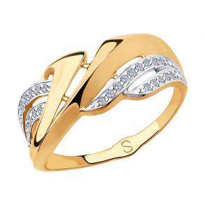 Кольцо из золота с фианитами 018273 SOKOLOV
