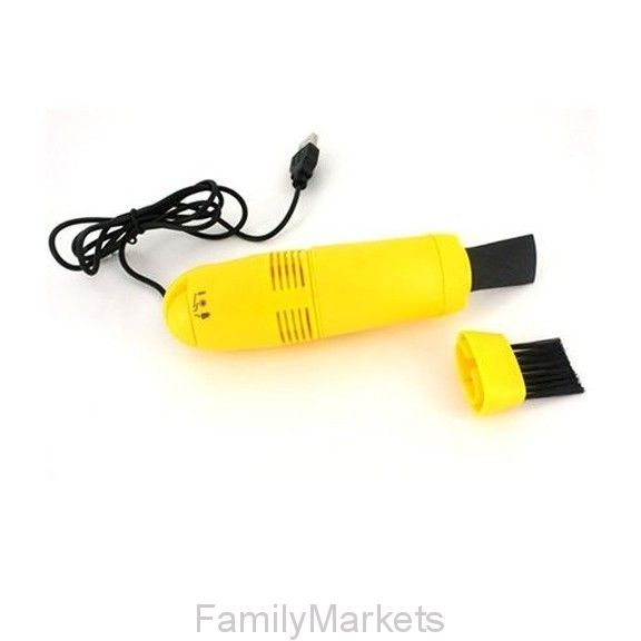 Мини пылесос для клавиатуры от USB (желтый)