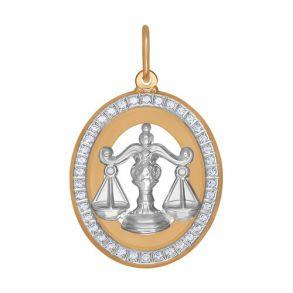 Подвеска «Знак зодиака Весы» из золота 033543 SOKOLOV