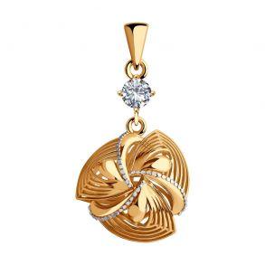 Подвеска из золота с фианитом 035767 SOKOLOV