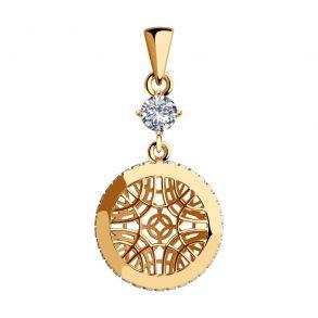 Подвеска из золота с фианитом 035768 SOKOLOV