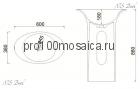 NSF-60380 Раковина из POLYSTONE (акриловый камень) размер,мм: 600*380*860 (NS BATH)
