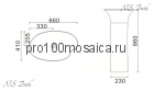 NSF-66411 Раковина из POLYSTONE (акриловый камень) размер,мм: 660*410*860 (NS BATH)
