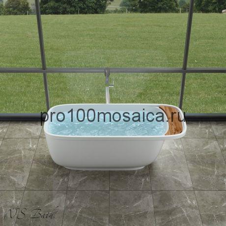 NSB-16572 Ванна из POLYSTONE (акриловый камень) размер,мм: 1650*720*580 (NS BATH)