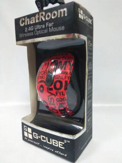 Компьютерная оптическая беспроводная мышь красно-черный