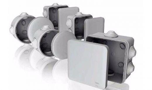 Электромонтажная коробка 65*35 IP54 серая для внешней установки Т-Пласт