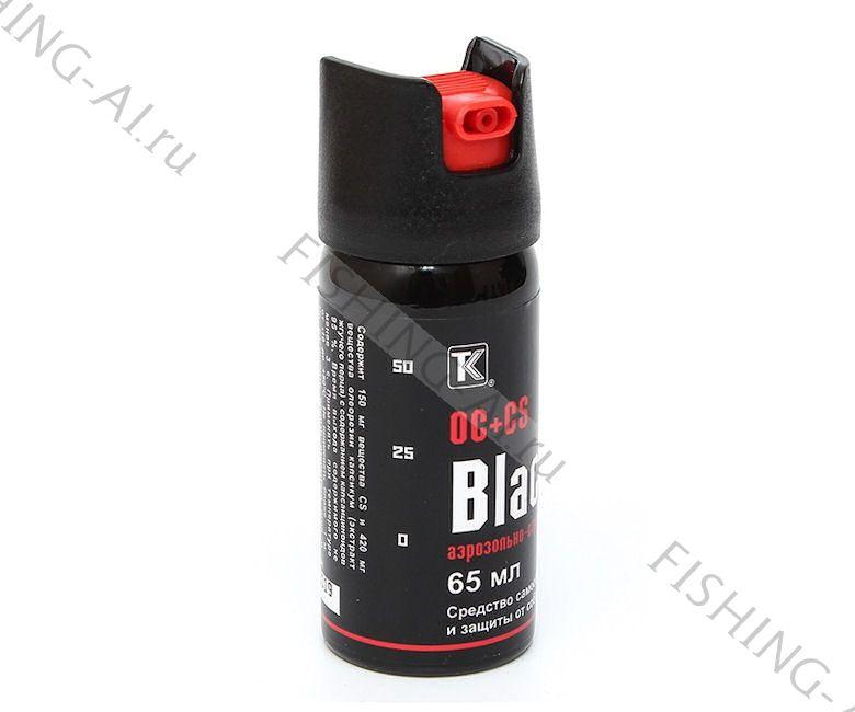 """Перцовый газовый балончик """"Black"""" OC+CS (65мл)"""