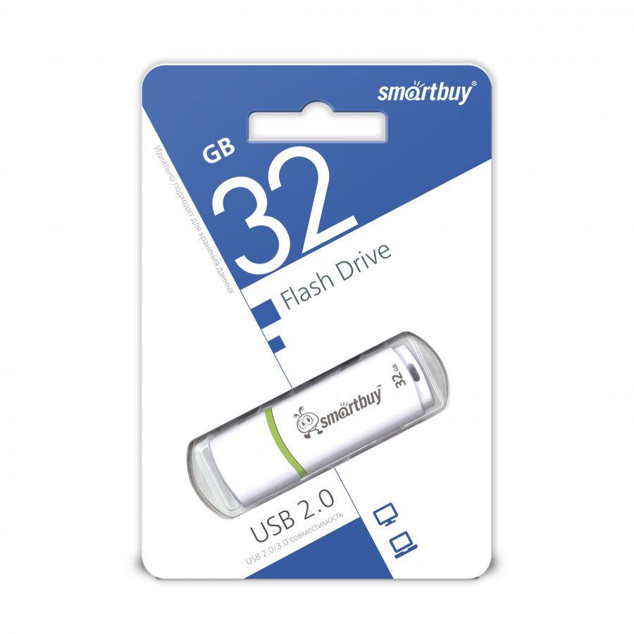 USB накопитель Smartbuy 32GB Crown White